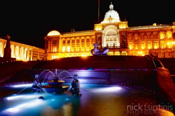 Birmingham City Hall and Fountains