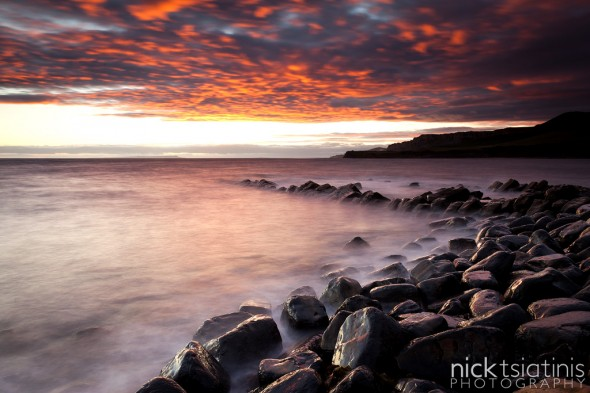 Fire in the sky at Kimmeridge, Dorset