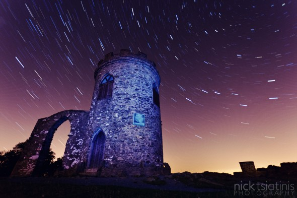 Star Trails at Old John in Bradgate Park