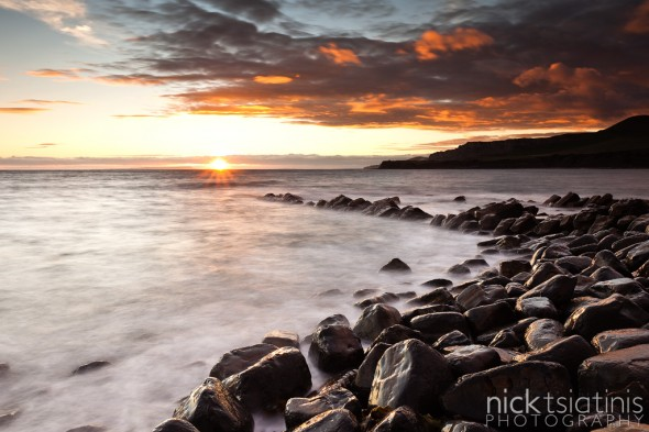Sunset at Kimmeridge in Dorset