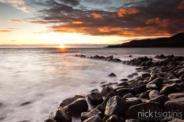 Sunset at Kimmeridge in Dorset