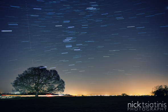 Star Trails at the Peckleton Tree